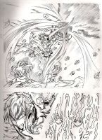 Page of my manga titled the light in tghe darkne by QuirogaArt