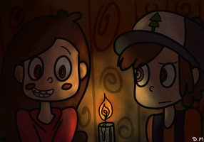 Mabel and Dipper by dinosauriomutante