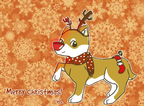 If Rudolf was a dog... by Huskerd