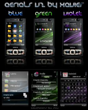 Aerials V2 Blue Green Violet by Xavier-Themes
