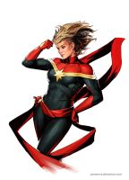 Captain Marvel by YamaOrce