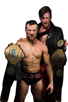 CCK with RPW Tag Team Championships Render by GenControl