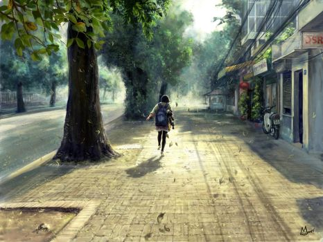 Deserted street by Tung-Monster