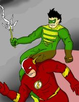 The Flash VS Weather Wizard by Chickenmonkey707