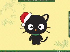 Christmas Chococat Desktop by astroasis