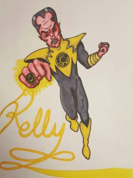 Legion of Doom nametag series- Sinestro  by Ruzho