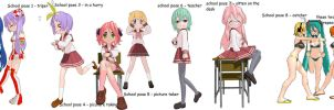MMD School poses 2 DL by 2234083174