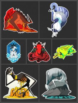 Seven Sin stickers by TheScatterbrain