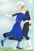 Elsa and Danny by LinART