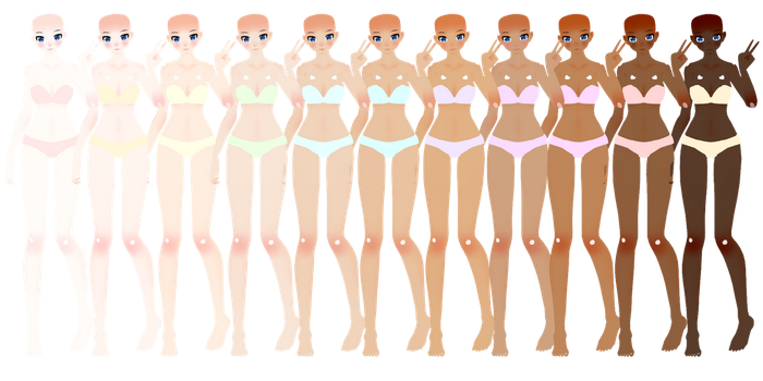 [MMD] TDA Natural Skin Tones DOWNLOAD by MijumaruNr1