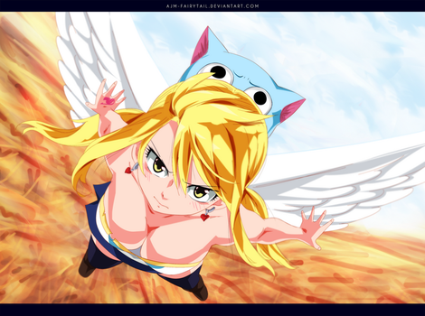 FairyTail 543 | Lucy and Happy by AJM-FairyTail