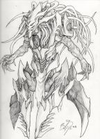 Infested High Templar - Pencils by BrandonPanagakos