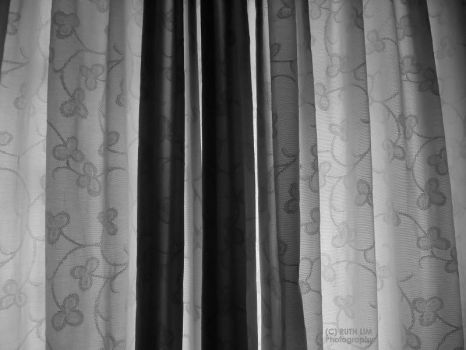 Black and White Curtains. by breathofbetrayal