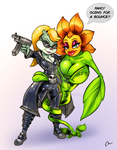 Berri and The Sunflower (Conker's Bad Fur Day) by Danny-Jay