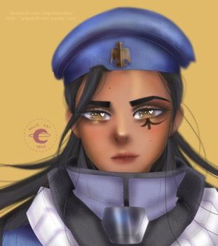 Young Ana Amari by AngieKatNekoOfficial