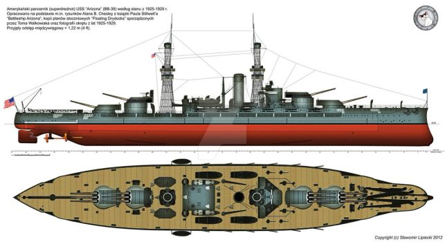 USS Arizona (BB-39) in 1925 by Lioness-Nala