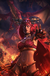 Alexstrasza the Life-Binder by raikoart