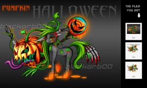 Halloween Pony AUCTION/CLOSED by blackorb00