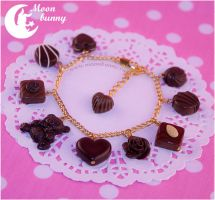 Favorite chocolate 3 Bracelet by CuteMoonbunny