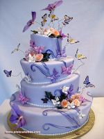 Topsy Turvy Quinceanera Cake by pinkcakebox