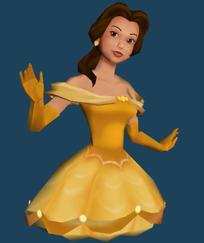 Belle (Beauty and the Beast) Bust Pre-Papercraft by Sabi996