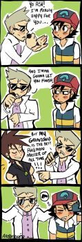 PROFESSOR OAK INTERRUPTS ASH by schizoed