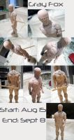Metal Gear Solid - Gray Fox - Sculpture by Quartknee