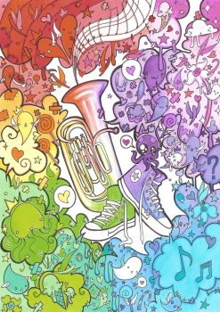 Tuba and Converse by 3lda