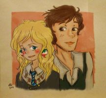 Neville and Luna by asami-h