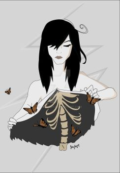 Butterflies Have Knives, Cutting Up My Insides by iamfeby