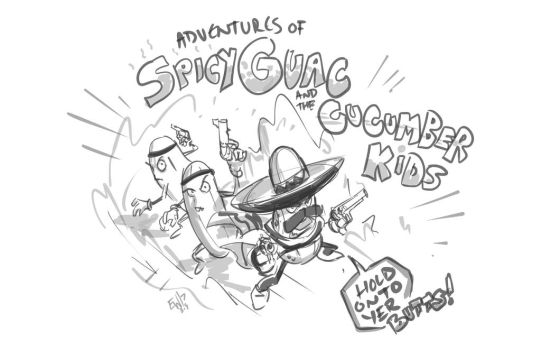Spicey Guac and The Cucumber Kids - DRS Warmup by EryckWebbGraphics