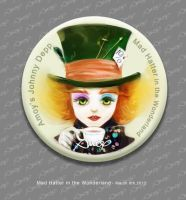 Mad Hatter Pin by amoykid