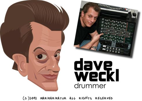 Dave Weckl Caricature by pati88