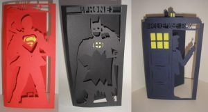Papercut Telephone Box Cards by freaky-dragonlady