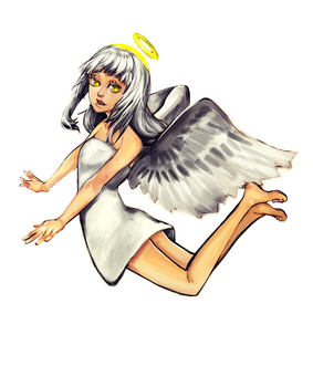 Angel redraw again 2014 by yomei-san