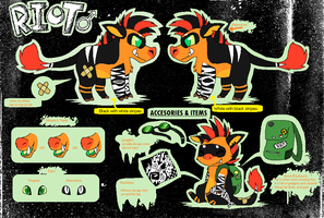 Riot Reference Sheet by SpunkyRacoon