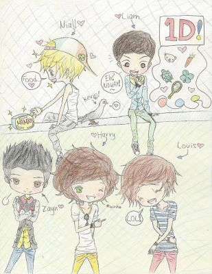 One Direction chibi! (finished) by ani-chi-chan