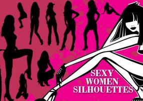Sexy Women Silhouette Brushes by fiftyfivepixels
