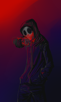 What? I am covered in blood ? by Dogrom