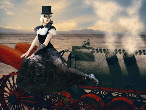 Steampunk Dragster by ArthurRamsey