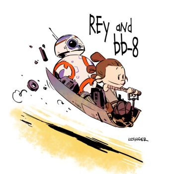 Rey and bb-8 by BrianKesinger