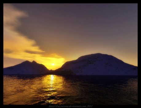 Terragen-sunset by Lazzarona