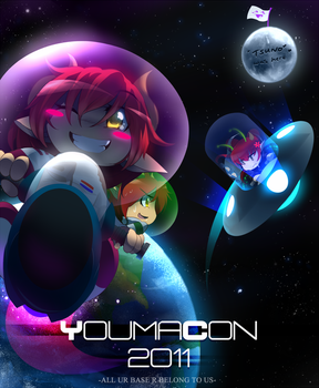 YoumaCon 2011 To The Moon by neon-drane