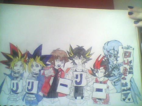 Half finished Yu-Gi-Oh Banner by ppgz-and-rrbz-lover