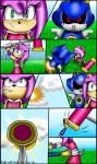 Sonamy short comic: Fight with Metal part 1/4 by TothViki
