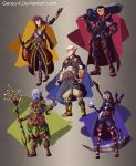 Dungeons and Dragons Characters Design-Commission by Genso-x