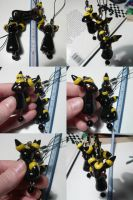 Umbreon Bead Charm NEW by ChibiSilverWings