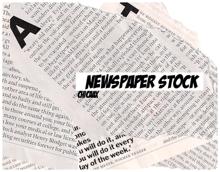 Newspaper Stock by chicaax