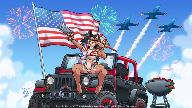 Bonnie's 'Merica Day by eltonpot