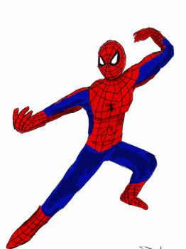 spiderman kungfu pose by hope1222